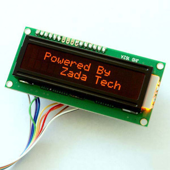 LCD 16x2 / orange Schrift | Zada Tech