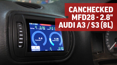"CANchecked MFD28 - 2.8"" Display Audi A3 / S3 (8L)"