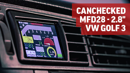 "CANchecked MFD28 - 2.8"" Display VW Golf 3"