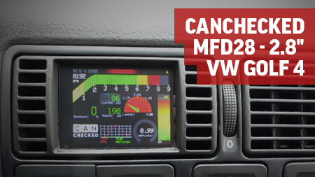 "CANchecked MFD28 - 2.8"" Display VW Golf 4"