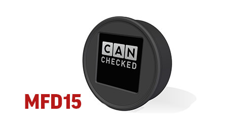 CANchecked MFD15 - 52mm Rund-Display